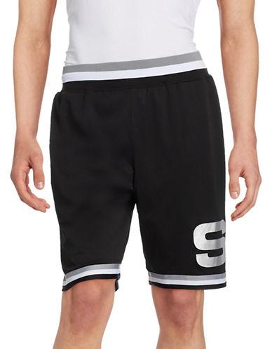 Stussy Striped Trim Basketball Shorts-BLACK-Large 88273329_BLACK_Large