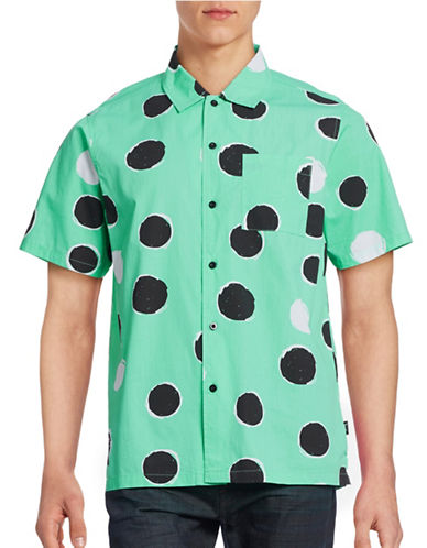 Stussy Illustrated Dot Sport Shirt-MINT-Small