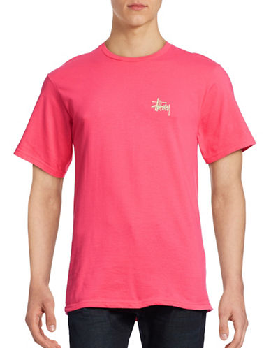 Stussy Back Logo T-Shirt-PINK-Medium 88438289_PINK_Medium
