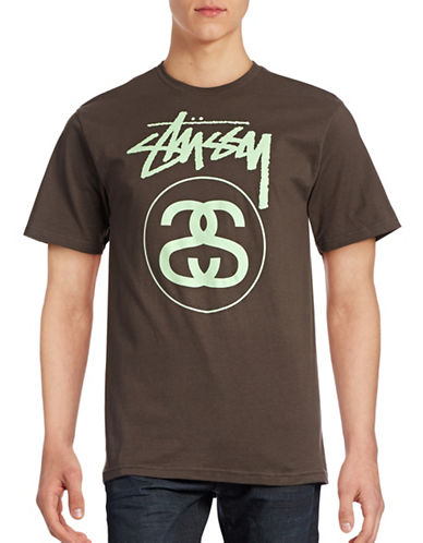 Stussy Short Sleeve Cotton T-Shirt-CHARCOAL-Large 88589379_CHARCOAL_Large
