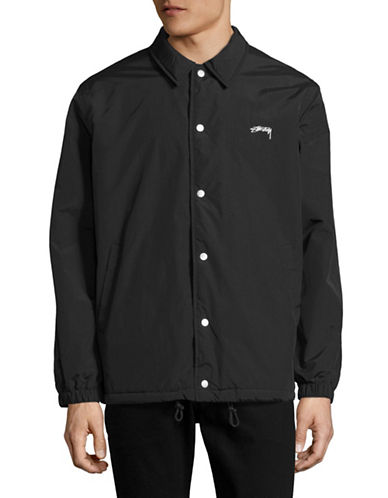 Stussy Smooth Stock Coach Jacket-BLACK-Medium