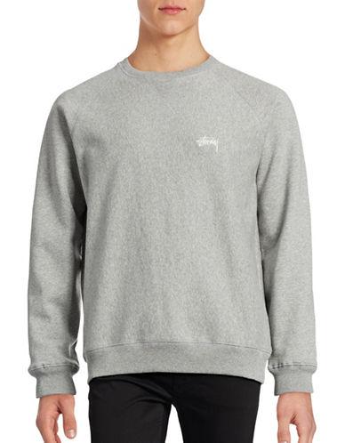 Stussy Stock Raglan Sleeve Sweatshirt-GREY-Medium