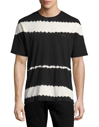 Stussy Spray Stripe T-Shirt-BLACK-Large 89127897_BLACK_Large