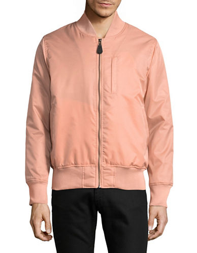 Stussy Flight Satin Bomber Jacket-ORANGE-Small