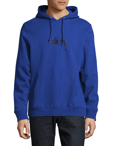 Stussy Pullover Logo Hoodie-BLUE-Small 88981024_BLUE_Small