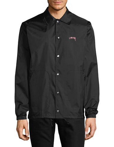 Stussy Summer Coach Jacket-BLACK-Small