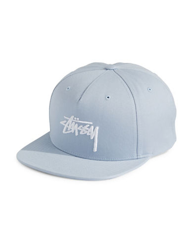 Stussy Stock Six-Panel Cap-BLUE-One Size