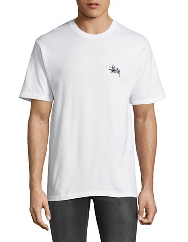 Stussy Basic Logo T-Shirt-WHITE-Medium 89252470_WHITE_Medium