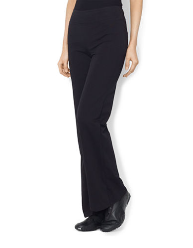 Lauren Ralph Lauren Straight Leg Yoga Pant-BLACK-Medium 87784959_BLACK_Medium