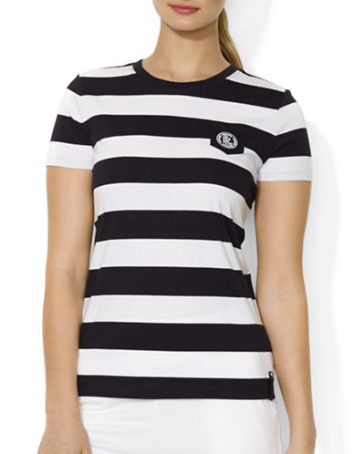Lauren Ralph Lauren Striped Crest Pocket Tee-WHITE-Large 87784997_WHITE_Large