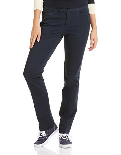Chaps Petite Straight Leg Pants-BLUE-Petite 4