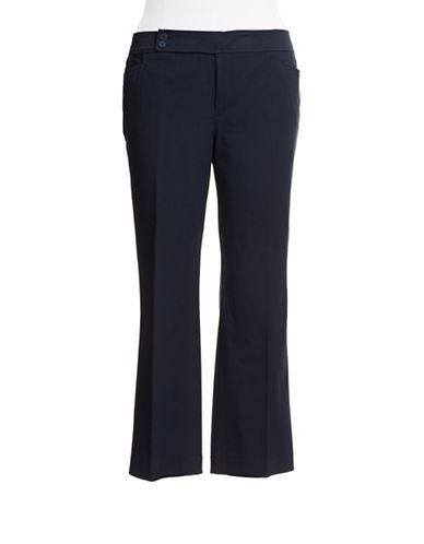 Chaps Plus Slimming Fit Stretch Cotton Pants-NAVY-18W 87771218_NAVY_18W