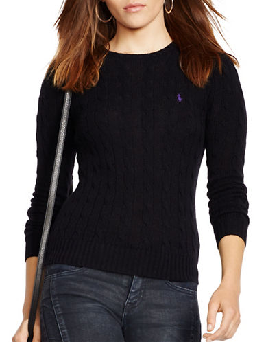 Polo Ralph Lauren Knitted Crewneck Sweater-BLACK-Small