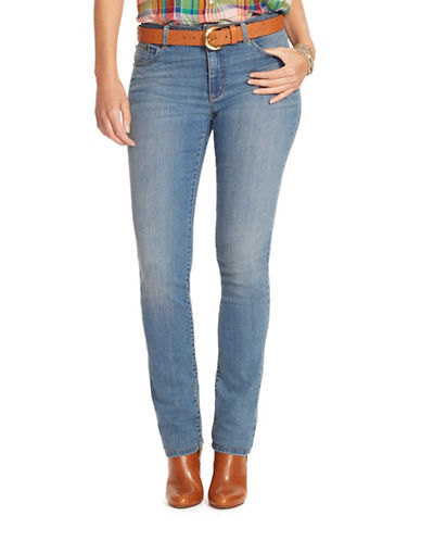 Lauren Ralph Lauren Plus Straight-Leg Jeans-BLUE-18W