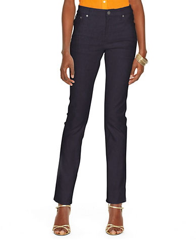 Lauren Ralph Lauren Super Stretch Modern Curvy Harbor Wash Jean-NAVY-4