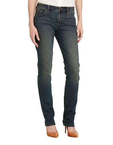 Lauren Ralph Lauren Super Stretch Modern Curvy Harbor Wash Jean-BLUE-10