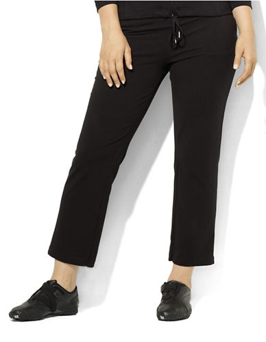 Lauren Ralph Lauren Plus Jersey Active Pants-BLACK-2X 87790910_BLACK_2X