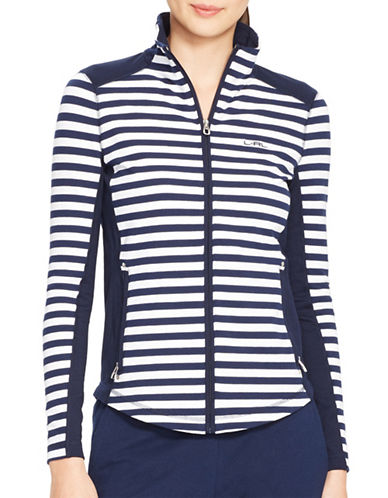 Lauren Ralph Lauren Striped Track Jacket-BLUE-X-Large 87946035_BLUE_X-Large