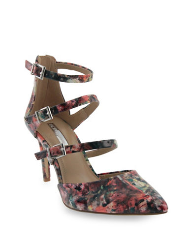 Bcbgeneration Zoom Printed Patent Pumps-FLORAL-5.5