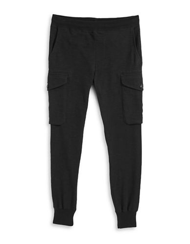 Todd Snyder X Champion Slim Cargo Sweatpants-BLACK-X-Large