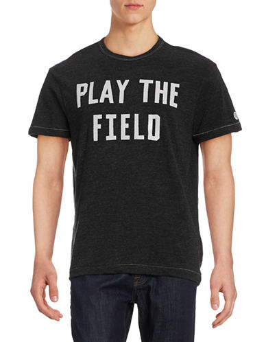 Todd Snyder X Champion Play The Field Graphic T-Shirt-BLACK MIX-Large
