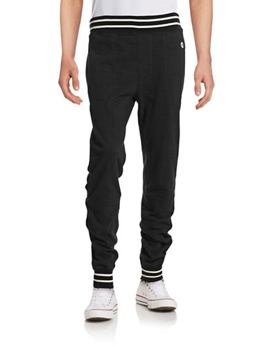 Todd Snyder X Champion Contrast Tip Sweatpants-BLACK-X-Large 88196270_BLACK_X-Large