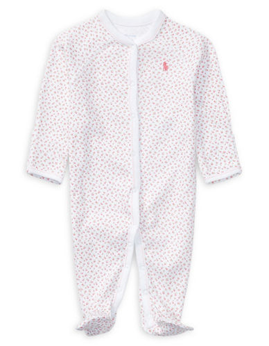 Ralph Lauren Childrenswear Long Sleeve Footed Coverall-WHITE-Newborn