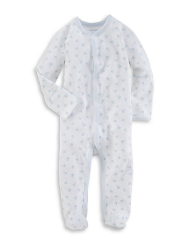 Ralph Lauren Childrenswear Block-Print Cotton Coverall-WHITE-6 Months