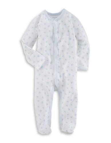 Ralph Lauren Childrenswear Block-Print Cotton Coverall-WHITE-9 Months