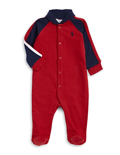Ralph Lauren Childrenswear One Piece Coverall-RED-6 Months