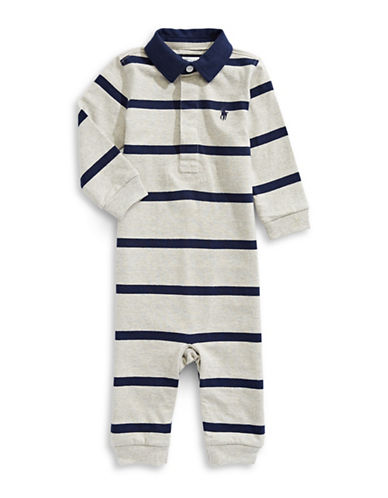 Ralph Lauren Childrenswear Striped Cotton Coveralls-ASSORTED-6 Months