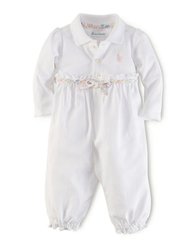 Ralph Lauren Childrenswear Classic Polo Interlock Coverall-WHITE-9 Months 87718008_WHITE_9 Months