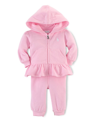 Ralph Lauren Childrenswear Fishcale Terry Set-LIGHT PINK-3 Months