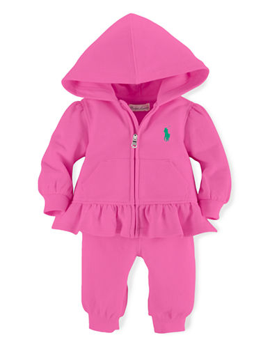 Ralph Lauren Childrenswear Fishcale Terry Set-PINK-3 Months