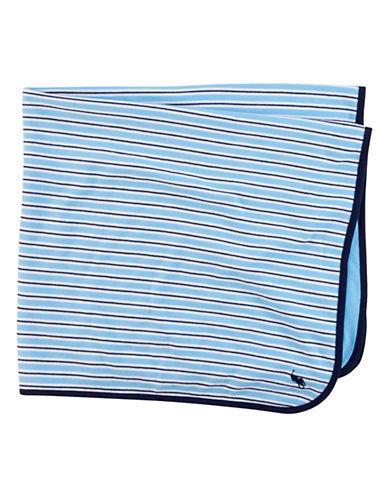 Ralph Lauren Childrenswear Rugby Stripe Blanket-BLUE-One Size