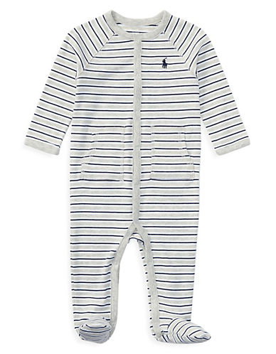 Ralph Lauren Childrenswear Striped Cotton Coverall-ASSORTED-Newborn