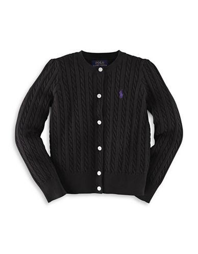 Ralph Lauren Childrenswear Cable-Knit Cardigan-POLO BLACK-4T