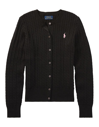 Ralph Lauren Childrenswear Cable Cardigan-POLO BLACK-Large