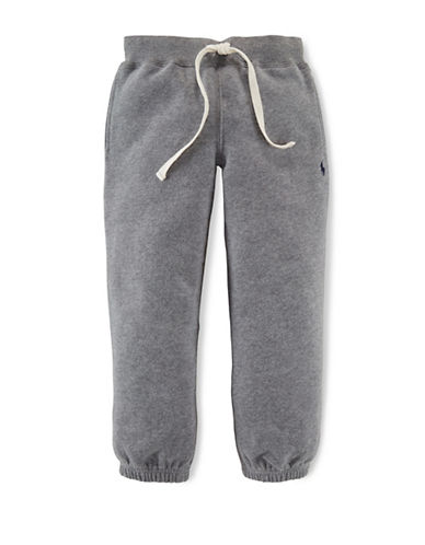 Ralph Lauren Childrenswear Drawstring Sweatpants-HEATHER GREY-4T