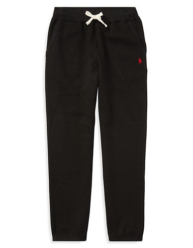 Ralph Lauren Childrenswear Fleece Pants-BLACK-5