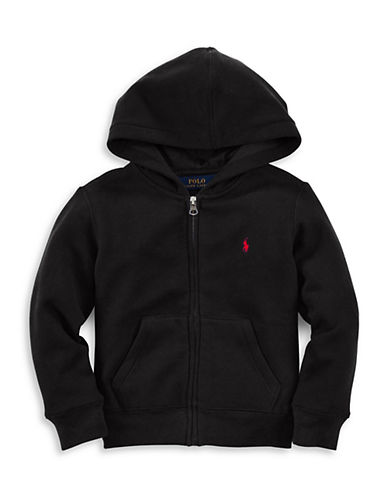 Ralph Lauren Childrenswear Fleece Hoodie-BLACK-6