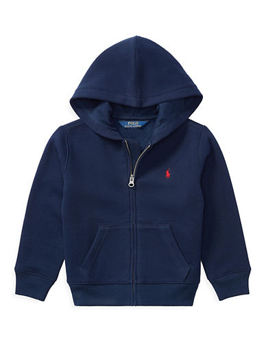 Ralph Lauren Childrenswear Front Zip Hoodie-NAVY-7