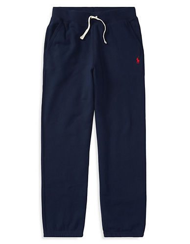 Ralph Lauren Childrenswear Drawstring Sweatpants-NAVY-Medium