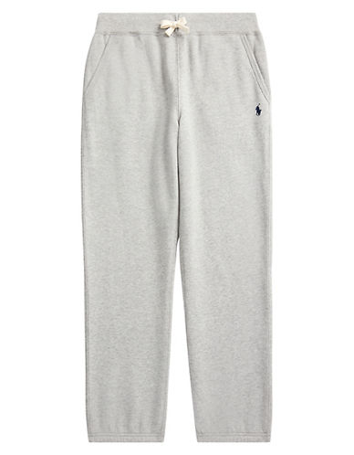 Ralph Lauren Childrenswear Drawstring Sweatpants-HEATHER GREY-Large