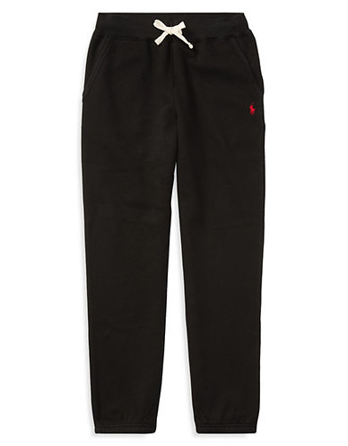 Ralph Lauren Childrenswear Drawstring Sweatpants-BLACK-Small 87891795_BLACK_Small