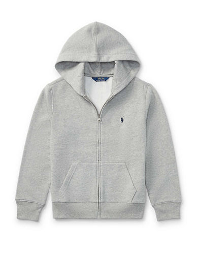 Ralph Lauren Childrenswear Classic Zip Hoodie-HEATHER GREY-Medium