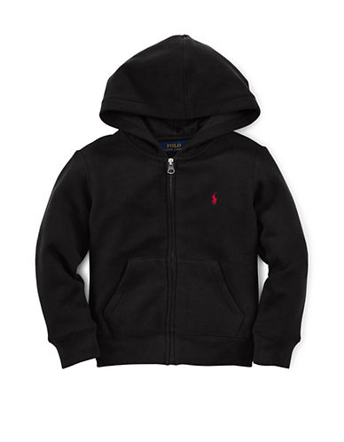 Ralph Lauren Childrenswear Front Zip Hoodie-BLACK-Small