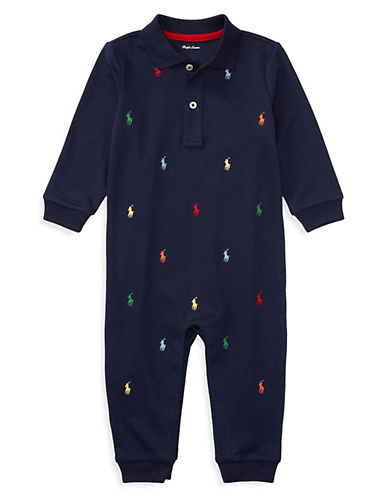 Ralph Lauren Childrenswear Pony Cotton Coverall-BLUE-3 Months