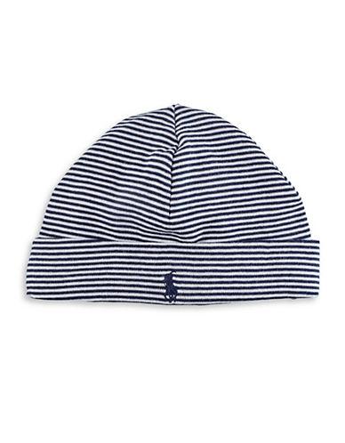 Ralph Lauren Childrenswear Striped Rib Beanie Hat-BLUE-One Size