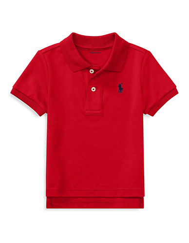 Ralph Lauren Childrenswear Cotton Pique Polo Shirt-RED-6 Months